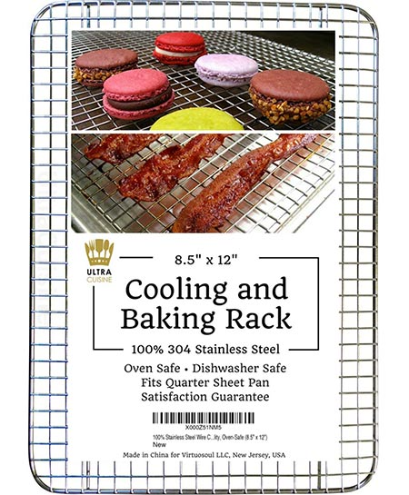 2. Ultra Cuisine 100% Stainless Steel Thick Wire Cooling & Baking Rack