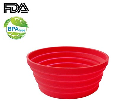 1. Ecoart Silicone Expandable Collapsible Bowl
