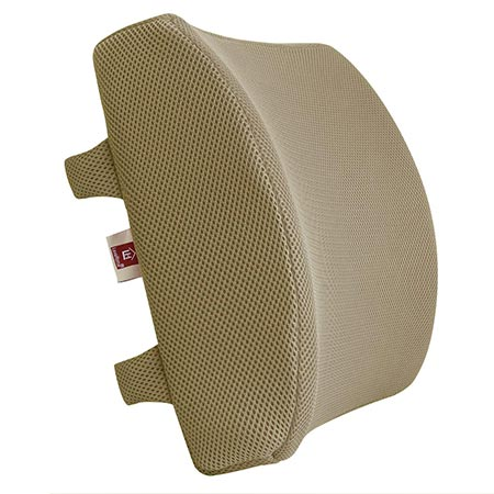 1. LoveHome Memory Foam Lumbar Support Back Cushion