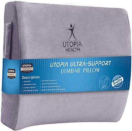 8. Utopia Bedding Lumbar Support Back Pillow