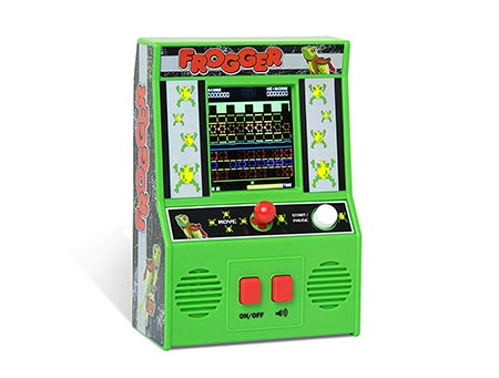 7. Basic Fun Arcade Classics - Frogger Retro Handheld Arcade Game
