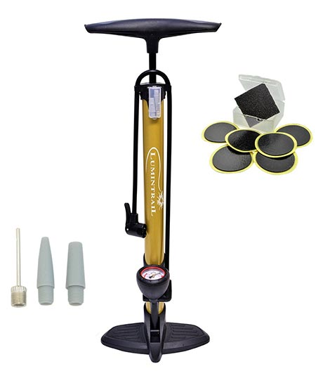 11.Lumintrail Bike Floor Pump