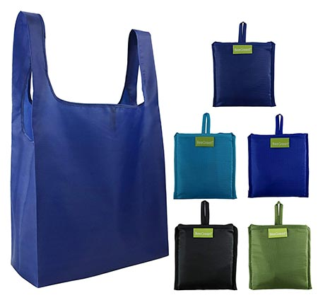 6. BeeGreen Reusable Grocery Bags 5 Pack