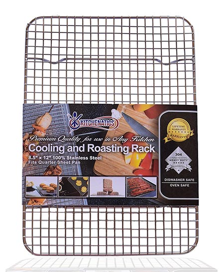 1. KITCHENATICS 100% Stainless Steel Wire Cooling and Roasting Rack