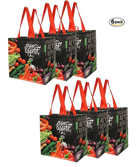7. Earthwise Reusable Grocery Bags Shopping