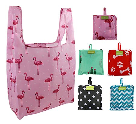 5. BeeGreen Foldable Reusable Grocery Bags 5 Cute Designs