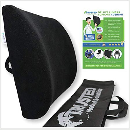 7. Trusted XL Back Lumbar Support Pillow