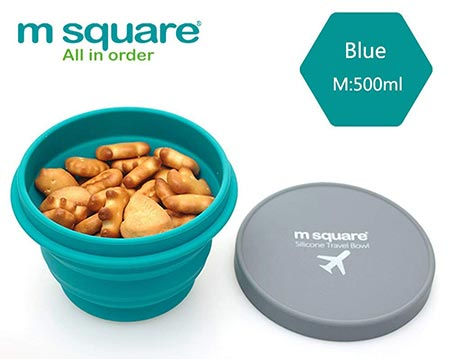 6. m square Collapsible Food Grade Silicone Bowls