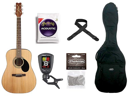 5. Jasmine 6 String S35 Acoustic Guitar Pack