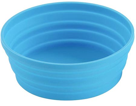 Deceny CB Silicone Collapsible Bowl with Lid for Travel Camping Hiking Folding Travel Bowl Portable for Outdoor and Indoor