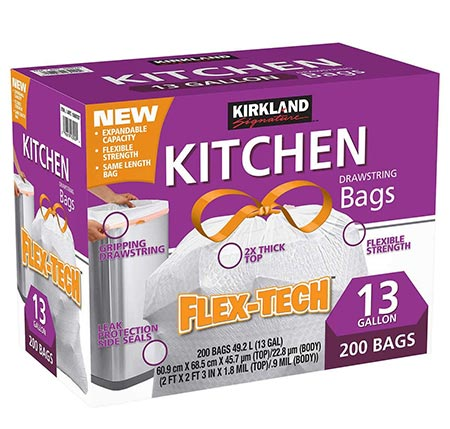 4. Kirkland Signature Kitchen Trash Bags
