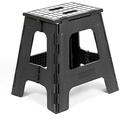 Acko 2-in-1 Dual Purpose Stool Two Step Ladder Durable Plastic Folding Stool