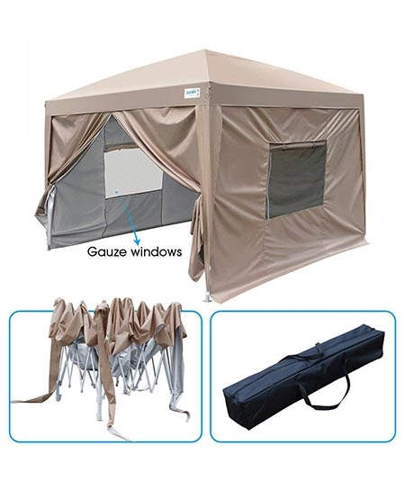 8. Quictent Upgraded Privacy 8x8 EZ Pop Up Canopy Tent