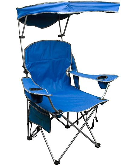 1. Quik Shade Adjustable Canopy Folding Camp Chair
