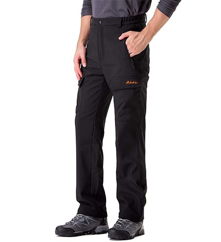 4. Clothing Men's Fleece-Lined Ski Cargo Pants – Warm