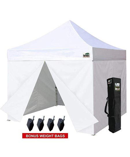6. Eurmax 10 x 10 Pop up Canopy Commercial Tent