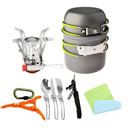 2 Bisgear Camping Cookware Set