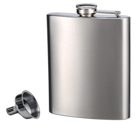 1. Top Shelf Flasks Stainless Steel Flask