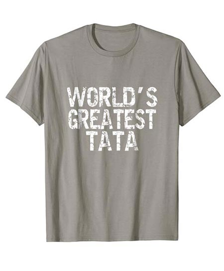11. World's Greatest TA TA! Funny Text T-Shirts