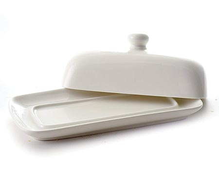 4. Norpro Porcelain Butter Dish with Lid