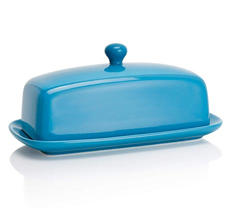 8. Sweese 3175 Porcelain Butter Dish with Lid