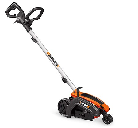"1. WORX WG896 12 Amp 7.5"" Electric Lawn Edger & Trencher, 7.5in, Orange and Black"