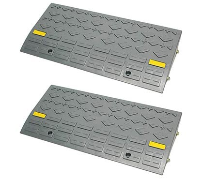 5. BISupply Curb Ramps for Driveway Ramps for Low Cars, Car Ramps, Motorcycle Ramp, Threshold Ramp, Loading Ramps 6in 2pk