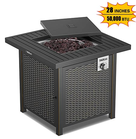 5. TACKLIFE Portable Gas Fire Pit, 18.7 inches