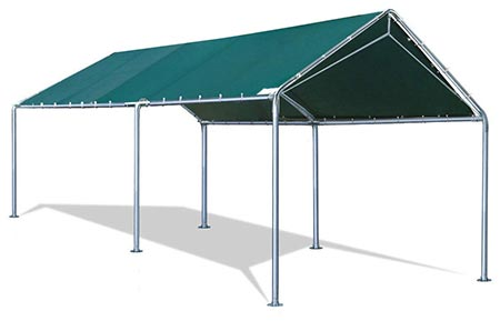 1. Quictent Heavy Duty Carport Car Canopy Party Tent with 3 Reinforced Steel Cables-Green