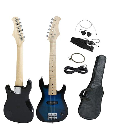 9. Mini Kids Blue Electric Guitar by Smartxchoices