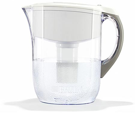 1. Brita Large 10-Cup Water Filter Pitcher