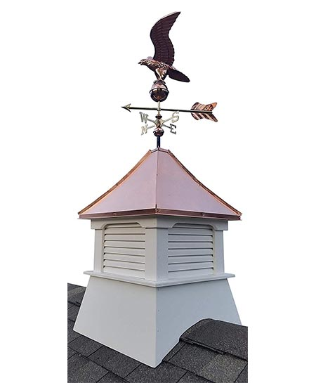 7. Accentua Olympia Cupola with Eagle Weathervane, 24 in. Square, 63 in. High