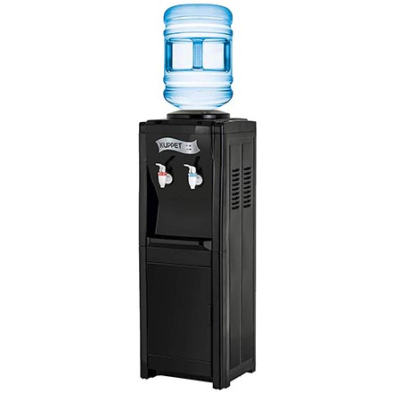 8. Giantex Top Loading Water Cooler Dispenser 5 Gallon Normal Temperature Water And Hot Bottle Load Electric Primo Home (White)