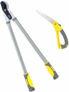 Jardineer-30.2'-Bypass-Loppers-&-15.5'-Pruning-Saw.-2'-Cut-Loppers-Heavy-Duty-Compound-Action,-Long-Leverage-Branch-Cutter-Loppers