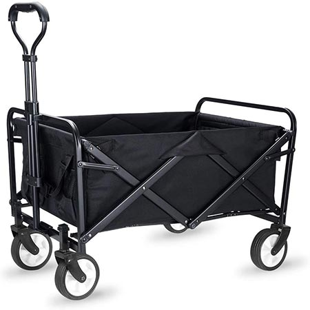 3. WHITSUNDAY Collapsible Folding Garden Utility Wagon