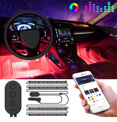 1-LEDGlow Multi-Color Car Interior Lights