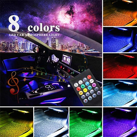 5-LivTee 12V Car Remote Control LED Strip Light