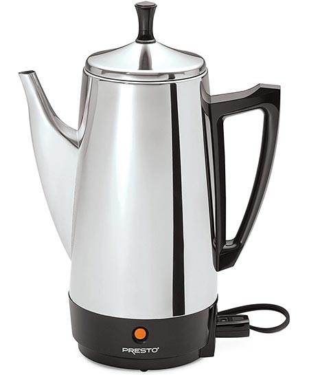 1. Presto 02811 12-Cup Stainless Steel Coffee Maker