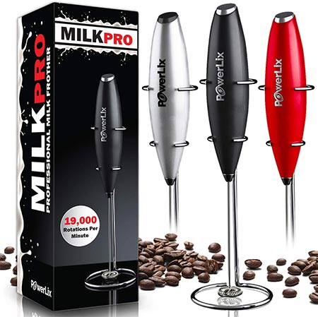 2 PowerLix Handheld Milk Frother