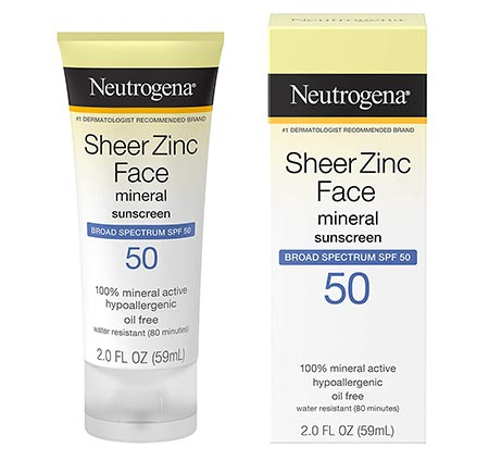 7-Neutrogena Sheer Zinc Oxide Non-Greasy Dry-Touch