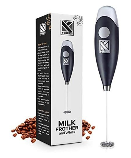 8 Milk frother-handled battery-electric foam maker