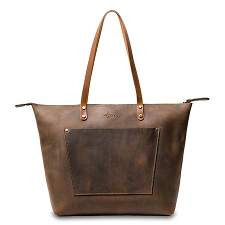 2-La Salle Personalized Handmade Heavy Duty Leather Tote3