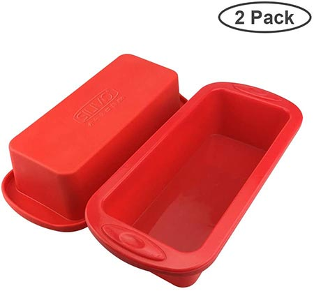 5-Silicone Bread and Loaf Pans for Homemade Cakes