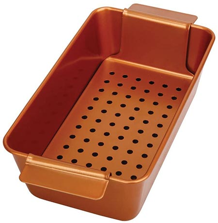 8 Two-Piece Non-stick Meat Loaf Pan
