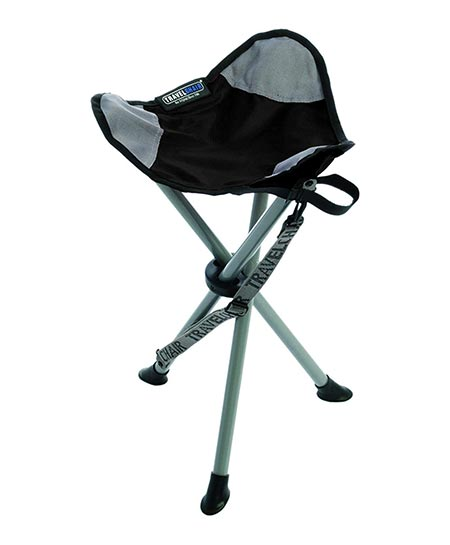 1. TravelChair Slacker Chair, Super Compact, Folding Tripod Camping Stool