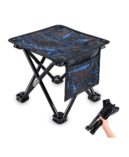 9. KUYOU Folding Camping Stool, 11.5''/ 13.3'' Portable Outdoor Mini Chair Camping Small Seat Barbeque Stool for Fishing BBQ Hiking Gardening and Beach, Travel