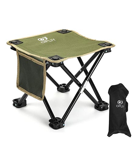 4. OPLIY Camping Stool, Folding Small Chair 11.5''/ 13.5'' Portable Camp Stool for Camping, Fishing, Hiking, Gardening, and Beach, Camping Seat with Carry Bag